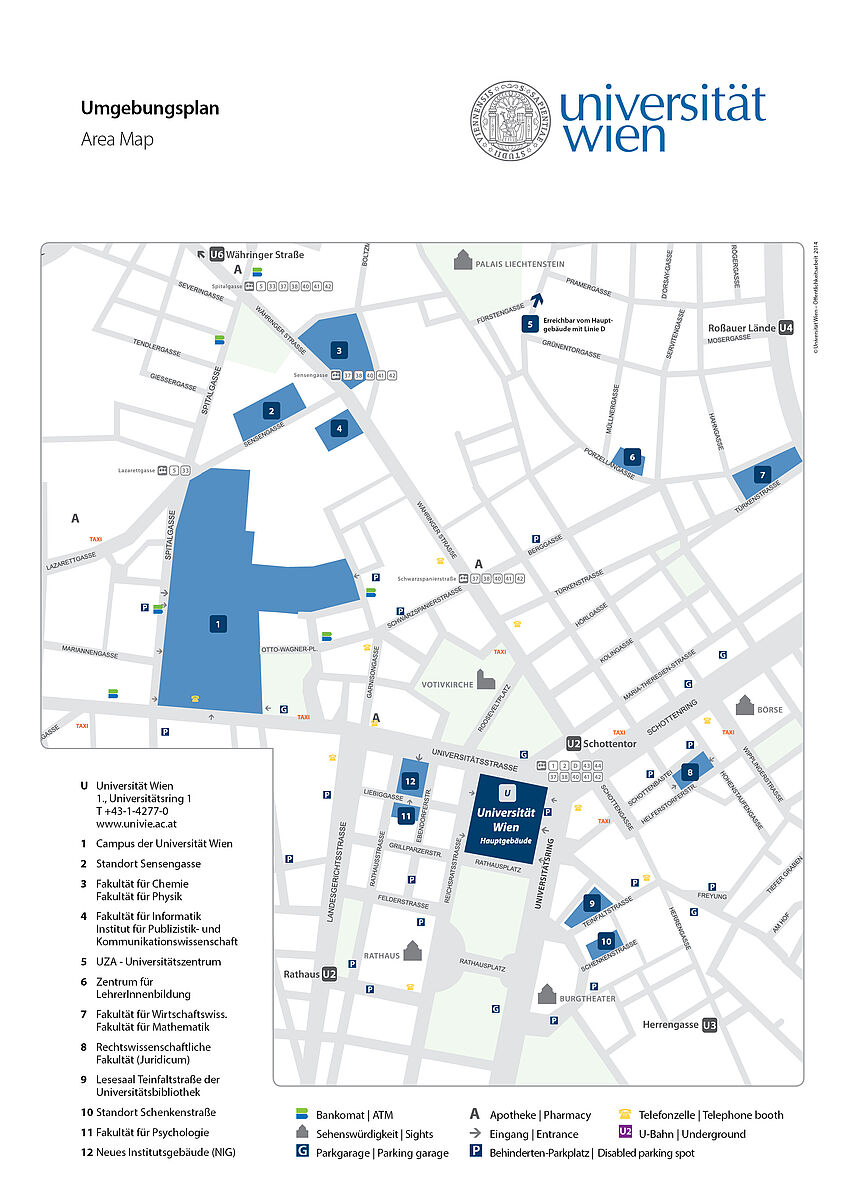 area map of the Main Building